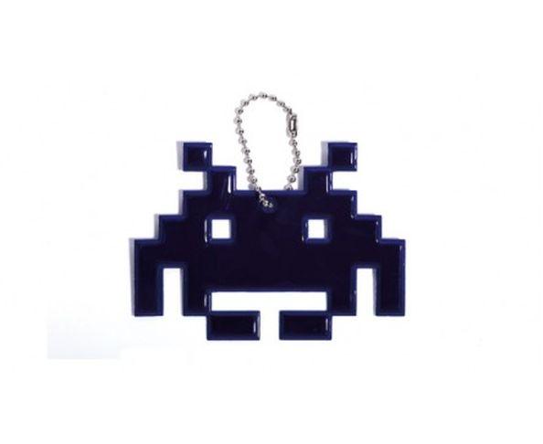 Space invaders spider bleu - Porte-clés