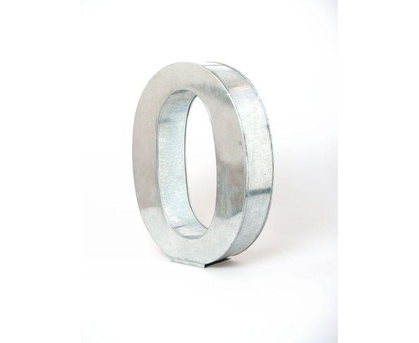 Chiffre en métal 0 - Metalvetica de Seletti