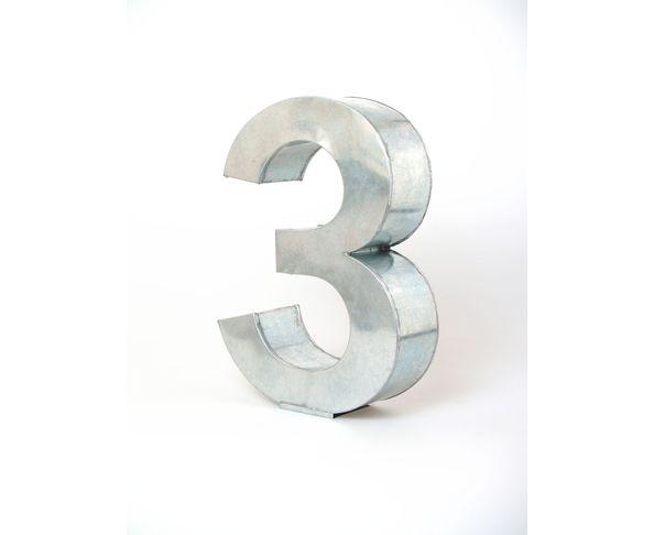 Chiffre en métal 3 - Metalvetica de Seletti