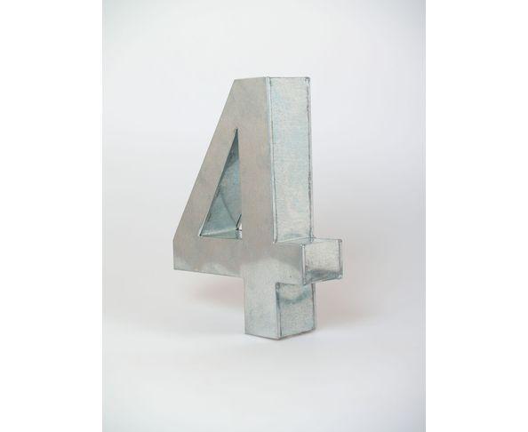 Chiffre en métal 4 - Metalvetica de Seletti