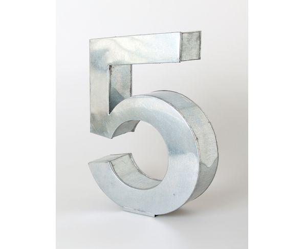 Chiffre en métal 5 - Metalvetica de Seletti