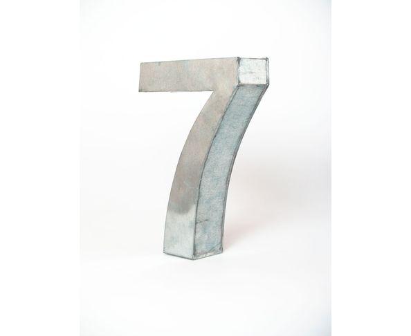 Chiffre en métal 7 - Metalvetica de Seletti