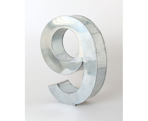 Chiffre en métal 9 - Metalvetica de Seletti