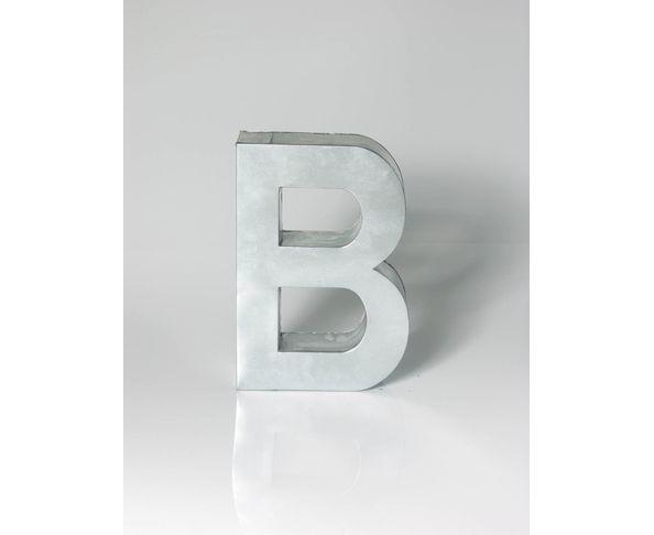 Lettre en métal B - Metalvetica de Seletti