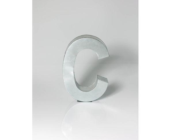Lettre en métal C - Metalvetica de Seletti