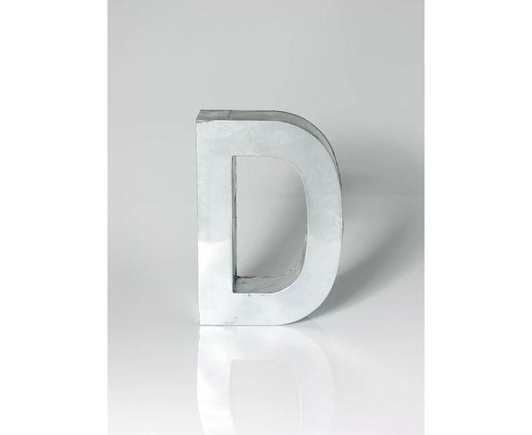 Lettre en métal D - Metalvetica de Seletti
