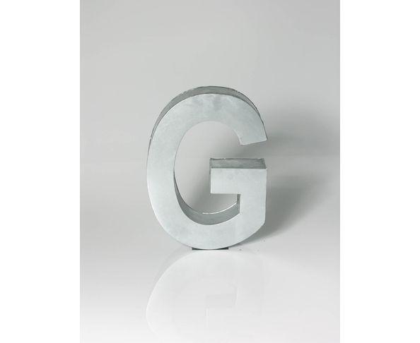 Lettre en métal G - Metalvetica de Seletti