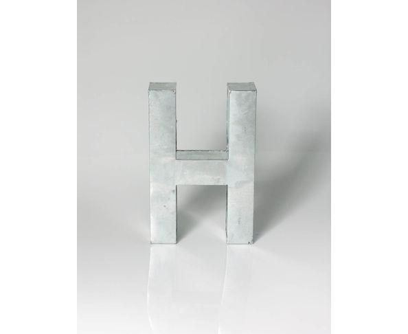 Lettre en métal H - Metalvetica de Seletti
