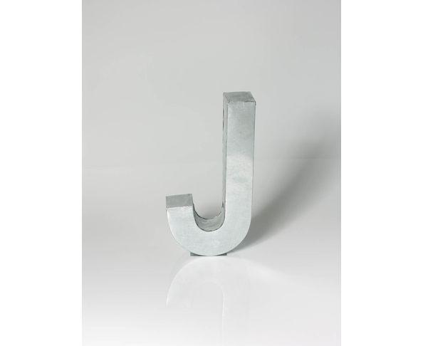 Lettre en métal J - Metalvetica de Seletti