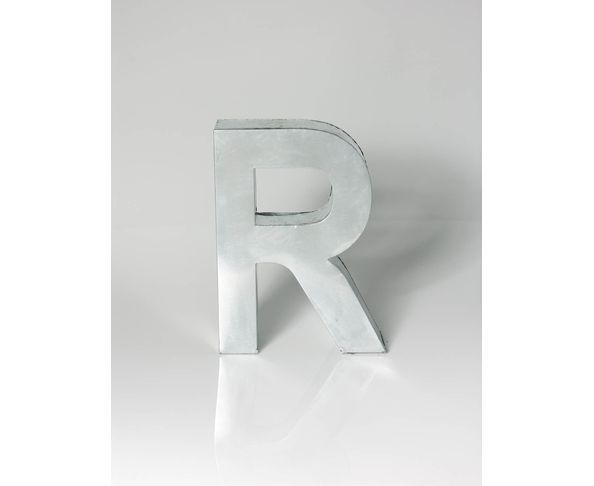 Lettre en métal R - Metalvetica de Seletti