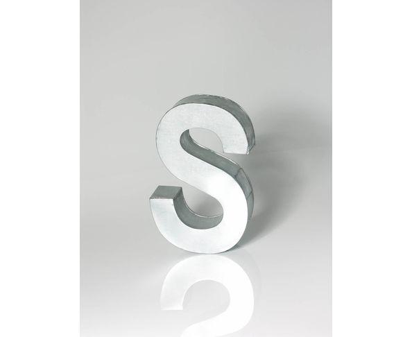Lettre en métal S - Metalvetica de Seletti