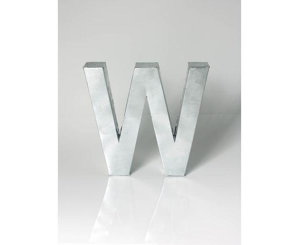 Lettre en métal W - Metalvetica de Seletti