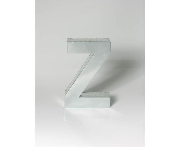 Lettre en métal Z - Metalvetica de Seletti