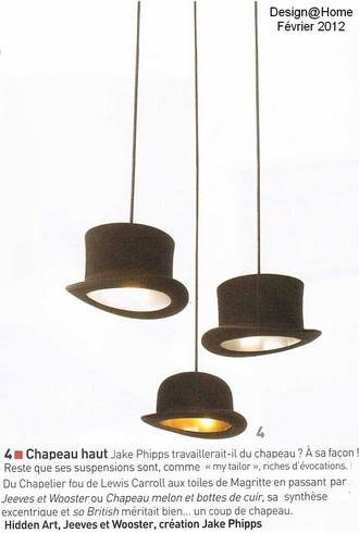 lustres suspensions suspension chapeau wooster sur deco and me. Black Bedroom Furniture Sets. Home Design Ideas