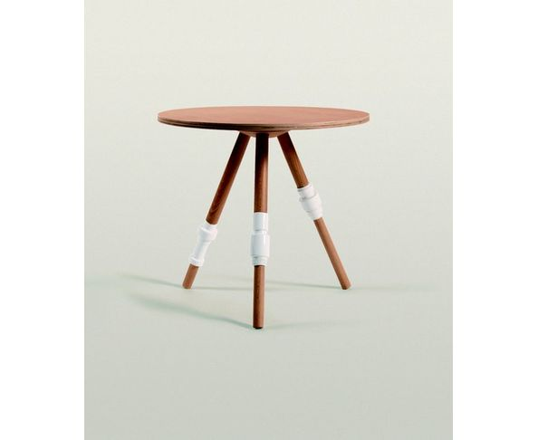 Table Turn Seletti en bois et porcelaine