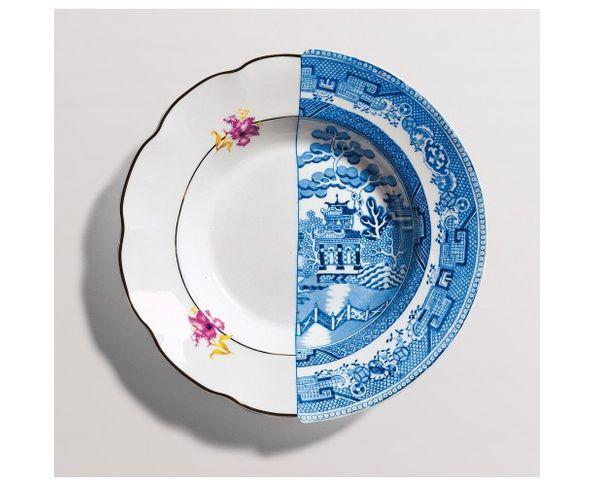 Assiette creuse en Porcelaine Hybrid - Fillide