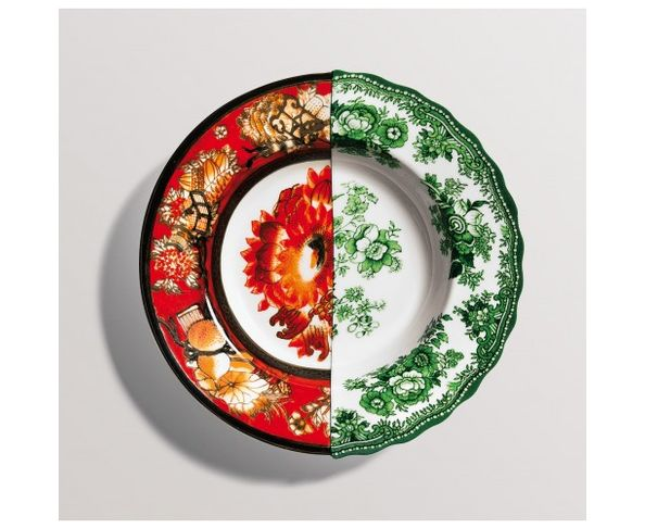 Assiette creuse en Porcelaine Hybrid - Cecilia | Seletti