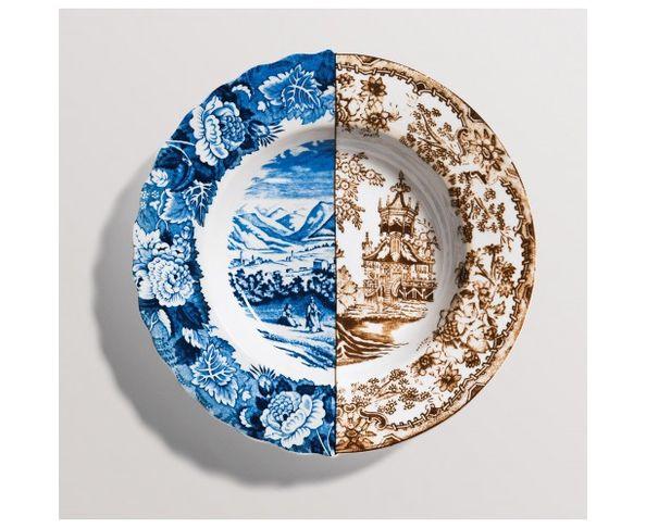 Assiette creuse en Porcelaine Hybrid - Sofronia