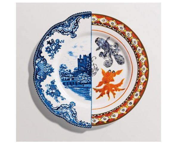 Assiette à diner en Porcelaine Hybrid - Isaura
