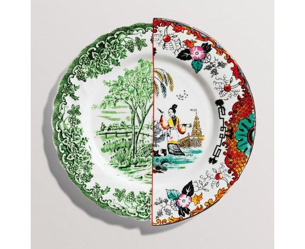 Assiette à diner en Porcelaine Hybrid - Ipazia