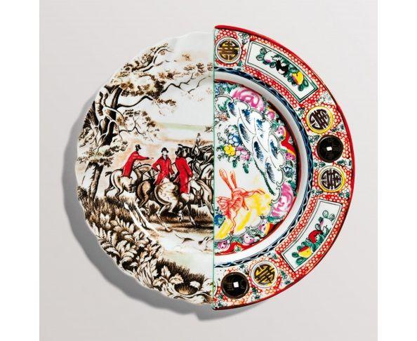 Assiette à diner en porcelaine Hybrid - Eusapia | Seletti