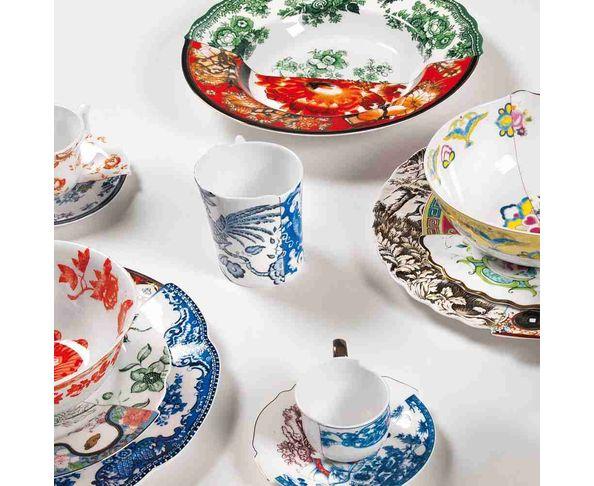 Tasse à thé avec soucoupe en Porcelaine Hybird-Zora