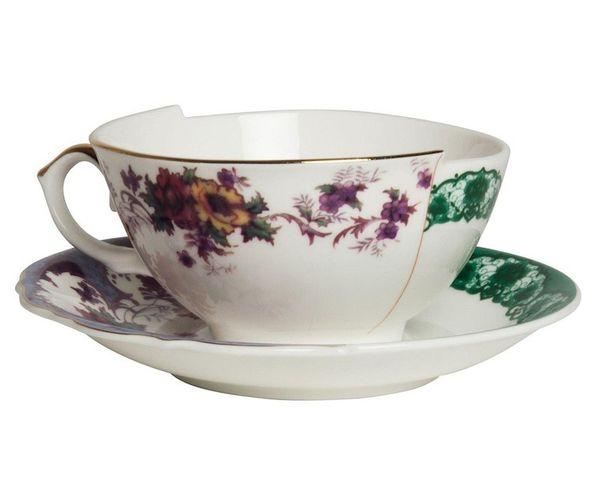Tasse à thé avec soucoupe en Porcelaine Hybird-Isidora | Seletti