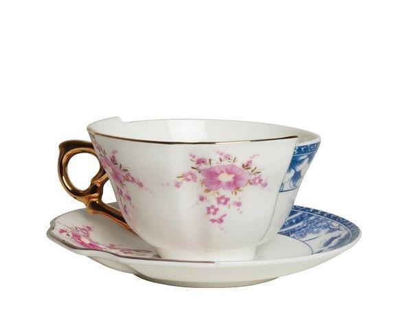 Tasse à thé avec soucoupe en Porcelaine Hybird-Zenobia | Seletti