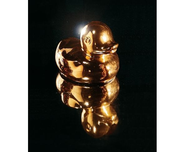 Canard doré en porcelaine - Seletti