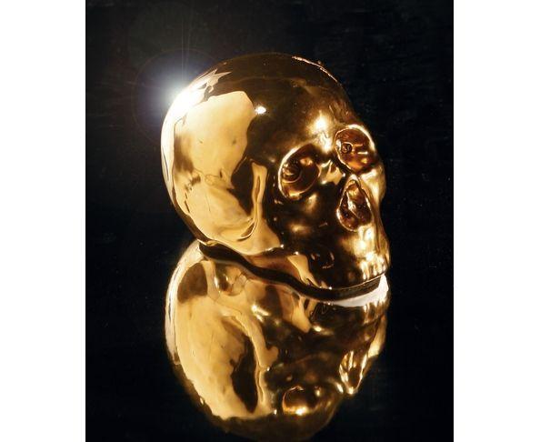 Crâne doré en porcelaine  - Seletti