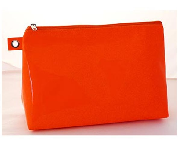 Trousse de toilette orange fluo