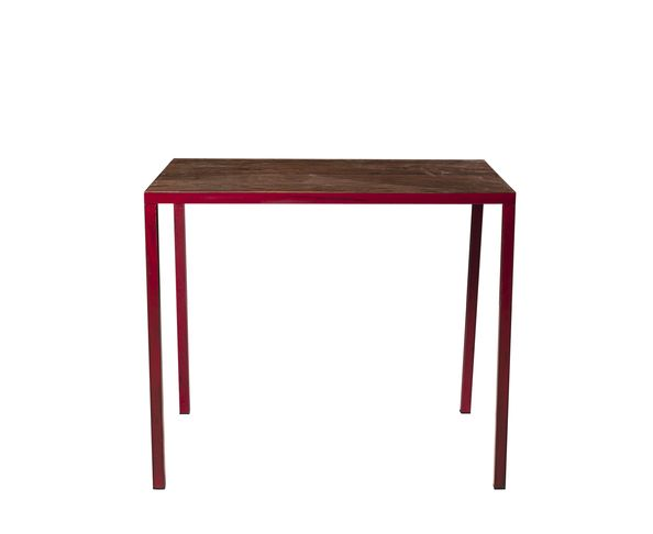 "Table en teck ""Red"" rouge"