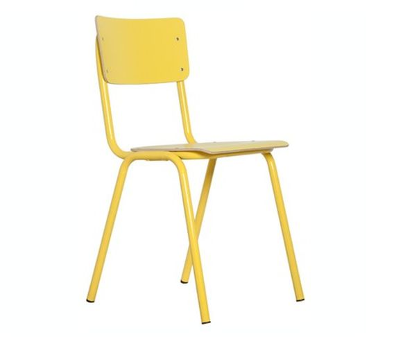 Chaise Back to school  jaune - Zuiver