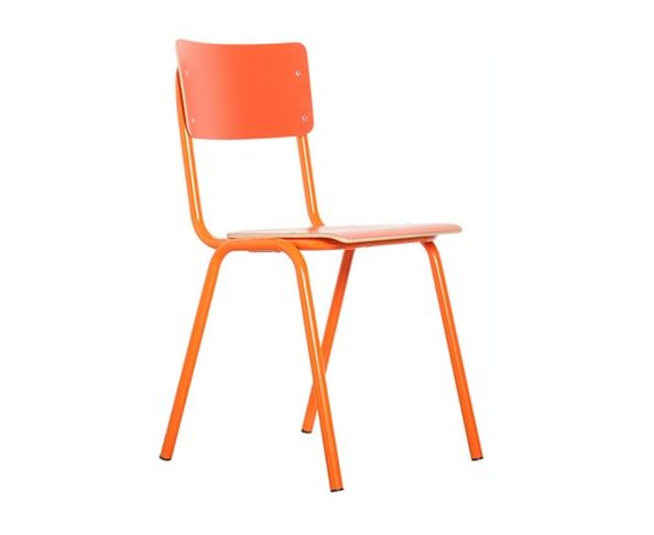 Chaise Back to school  orange - Zuiver