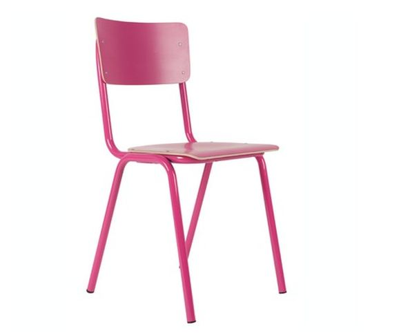 Chaise Back to school  rose - Zuiver