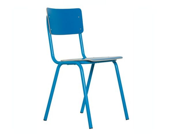 Chaise Back to school  bleu - Zuiver