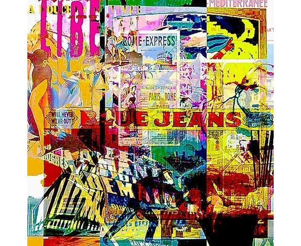 Tableau plexiglas Blue Jeans