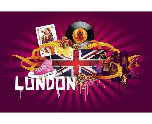 Tableau plexiglas London God save the Queen