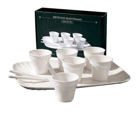 Set à café Seletti en porcelaine blanche