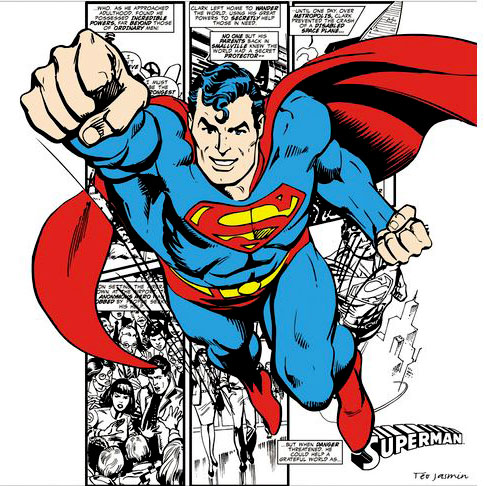 Tableau Superman 1 Blanc