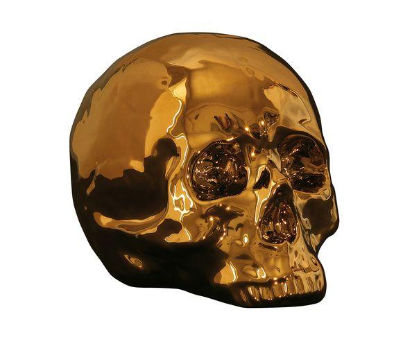 Tête de mort porcelaine et or - Seletti
