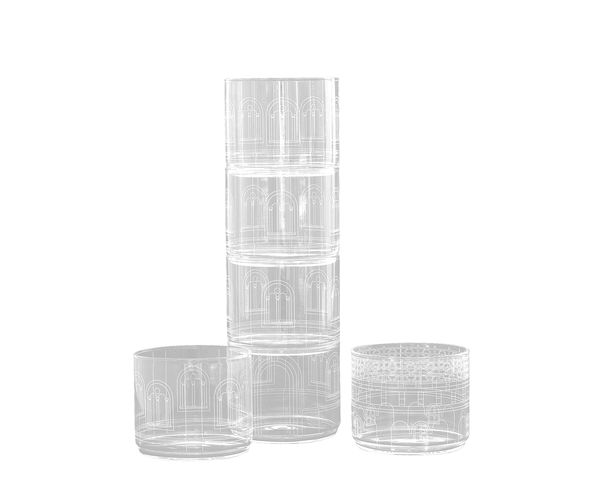 Palace Set de 6 verres - Seletti - Nouvelle finition