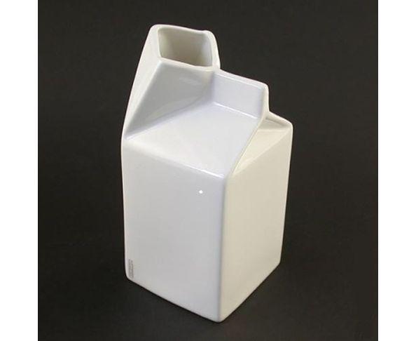 Pichet brique de lait blanc, Seletti