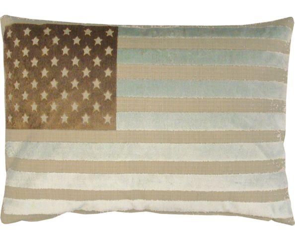 Coussin US Velvet Flag