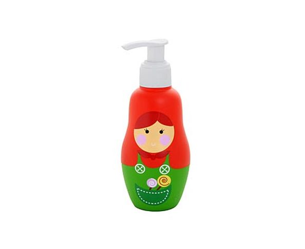 Distributeur de savon Matriochka rouge et vert