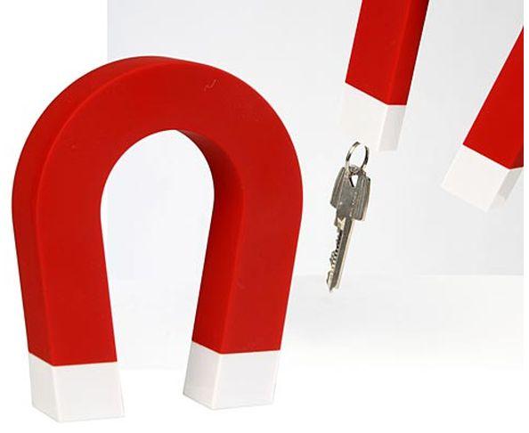 Porte-clés mural magnétique en forme d'aimant