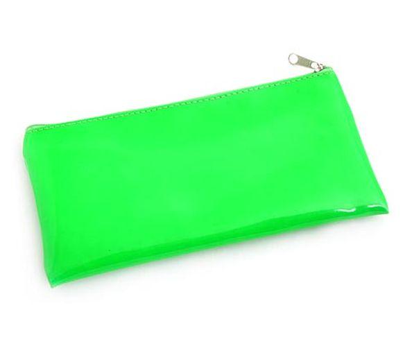 Trousse rectangulaire verte fluo