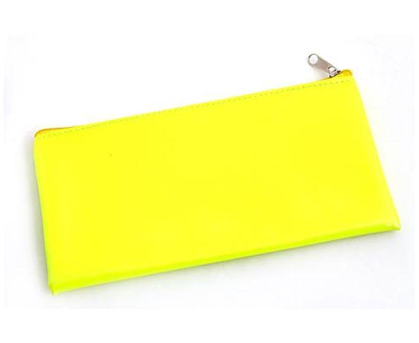 Trousse rectangulaire jaune fluo