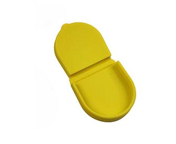 Porte monnaie crapaud silicone jaune