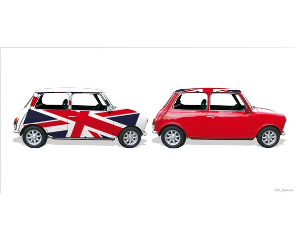 Tableau 50x150cm - MINI DUO Union Jack